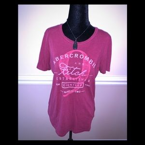 AB&F tee shirt-Medium-(necklace not included)